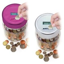 Electronic LCD Coin Money Counting Jar Box Saving Safe Digital Piggy Bank New