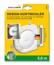 Schellenberg Design Aufschraubwickler Gurtwickler Mini weiss mit Rollladengurt