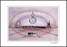 Armin Birkel Flauto e Pianoforte Poster Kunstdruck im Alu Rahmen schwarz 50x70cm