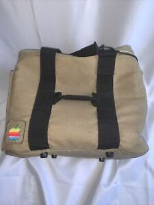 Vintage 1980s Apple Macintosh Computer Travel Bag Tote Carry Case with Strap EUC