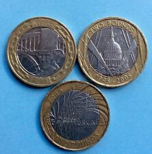 3 RARE £2 COINS COIN HUNT COLLECTION VARIOUS YEARS AS SCANS