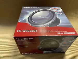 "Pioneer Champion Series PRO TS-W3003D4 2000 watts 12"" subwoofer with dual 4-ohm"
