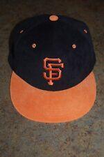 San Francisco GIANTS MLB Corduroy Cap/Hat Orange Bill Snapback PROMO NEW