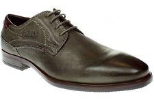 Runde Bugatti Herren-Business-Schuhe aus Echtleder