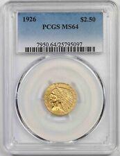 1926 $2.5 PCGS MS 64 Indian Head Gold Quarter Eagle