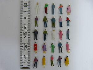 1000 bemalte Figuren stehend bemalt H0 1:87 Modellbahn NEU