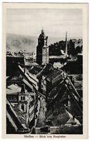 Ansichtskarte Meißen an der Elbe - Blick vom Burgkeller - schwarz/weiß