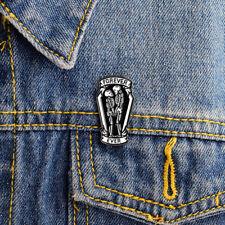 Enamel Pin Badge 'Forever Ever' Zombie Coffin Skeleton Brooch Lover Gift Hot