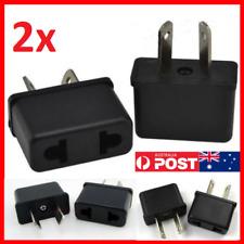 2 x USA EU EURO ASIA to AU AUS AUST AUSTRALIAN POWER PLUGs TRAVEL ADAPTER