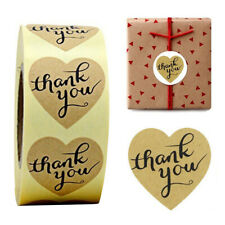 1 Roll 500Pcs 3cm Gold Thank You Stickers Handmade Food Gift DIY Labels Paper