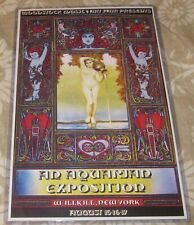 Woodstock Festival Style #2 Replica Concert Poster W/Protective Sleeve