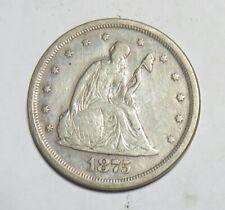 1875 S TWENTY CENT PICE