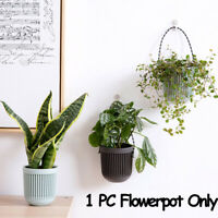 ornament Basket Planter Hanging Flowerpot Garden Pot Double-layer Plants Holder