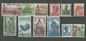 PAPUA & NEW GUINEA BRITISH COLONIES  POSTAL USED  STAMPS XXX  LOT (BRCOL 230)