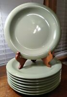 "Eight Gibson Everyday Sage Green Color 10 3/4"" Dinner Plates Sold Individually"