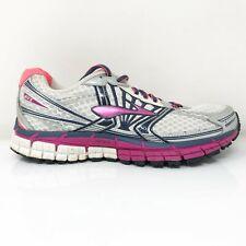 Brooks Womens GTS 14 1201511B581 White Pink Running Shoes Lace Up Size 6.5 B