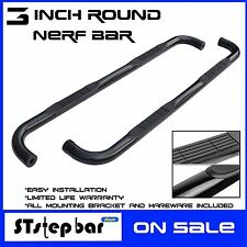 "3"" BLACK NERF BAR Side Step Running Board For 15-17 FORD F150 17 F-250 SUPER CAB"