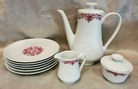 Winterling Rosia Bavaria Pink And White 9pc Coffee Tea China Set