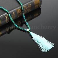 6mm Dark Green Jade Prayer Mala Meditation Bead Buddhist Necklace Bracelet