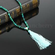 6mm Dark Green Jade Prayer Mala Meditation Bead Buddhist Necklace Bracelet