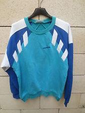 VINTAGE Sweat ADIDAS années 80 style FC NANTES coton shirt oldschool 168 D4 S