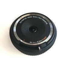 Olympus Fisheye Body Cap 9mm f/8 Lens - Black- M43Micro-4/3 Micro Four Thirds