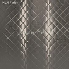 """24Ga x 48"""" x 96"""" Quilted Stainless Steel Sheet, #4 Brushed Finish"""