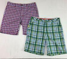 Lot 2 Izod + Puma Dry Regular Fit Stretch Golf Plaid Athletic Shorts Size 36