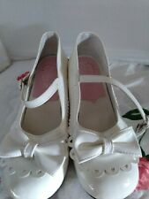ANTAINA White Bow Mary Jane Lolita Shoes Size 40ER/9US