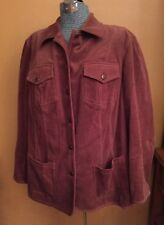 Women's Real Clothes Saks Fifth Ave Salon Z Corduroy Jacket Coat Brown L