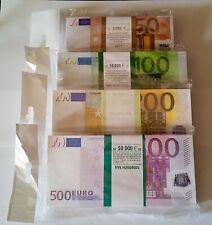 50, 100, 200, 500 euro - SET SOUVENIR MONEY, BANKNOTE 4 pack. NEW.