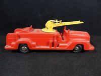 LOUIS Marx Friction Fire Truck 1950s- 60s  Rare Version??  PLASTIC VINTAGE
