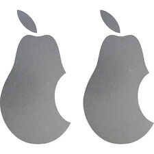 2 Aufkleber Tattoo Birne 10cm silber Apple verarsche Tablet Laptop Notebook Auto
