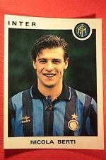 Panini Calciatori 1991/92 1991 1992 N. 161 INTER BERTI OTTIMA!!