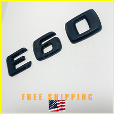 E60 BMW Matte (Flat) Black Trunk Back Emblem Badge Decal Nameplate Mercedes Benz