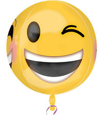 Winkey and Smiley Emoji Foil Balloon Anagram 15 x 16 inch Limited Quantity
