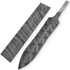 White Deer Damascus Steel LEOPARD PRINT Pattern Billet Forge Welded 10in x 2in