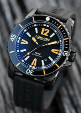 Lum-Tec Watch 300M-3 40mm Automatic Mens Diver Black PVD Stainless Steel Rubber