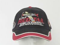 CAF Red Tail Squadron / Tuskegee Airmen Black Red Ball Cap Hat Adjustable