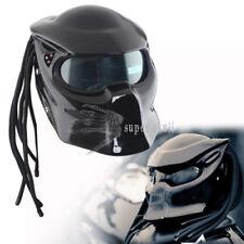 Predators Vivid Black LEDs Safe Full Face Helmet Attractive Mask Fiberglass XL