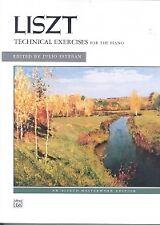 LISZT TECHNICAL EXERCISES Complete PIANO