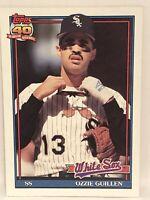 1991 Topps Ozzie Guillen baseball card Chicago White Sox NrMt-Mint #620 MLB SS
