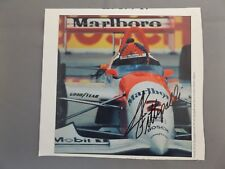 "HAND SIGNED 8"" x 7"" MAGAZINE PAGE PHOTO - EMERSON FITTIPALDI - INDYCAR"