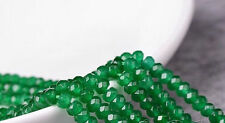 """4x6mm Natural Faceted Green Jade Abacus Gems Loose Beads 15"""" AAA"""