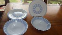 Martha Stewart Garden Trellis Soup bowls salad plates 8 pieces 3 soup 5 plates