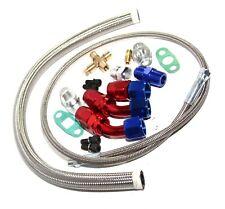 Turbo Oil Return Drain+Feed Line RED/BLUE for Turbo T3 T4 T04E T3/T4 T61 T60 T70