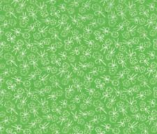MODA FIRST ROMANCE 100% cotton fabric by yard Cutie Pie - green flower bows
