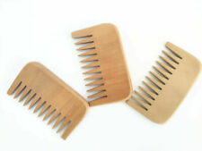 New Design Peach Wood Wide Tooth Beard Care Combs Wooden Comb Custom LOGO