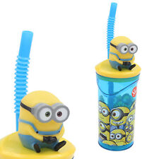 Disney / Character 3D Figurine Tumbler Cup with Straw - Minions