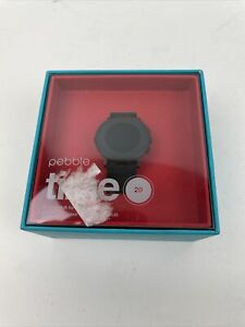 Pebble Time Round Smartwatch 20mm Black - 601-00049 - New